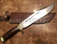 "18"" AUSSIE CUSTOM HANDMADE D2 HUNTING CROCODILE DUNDEE HIGH POLISH BOWIE KNIFE"