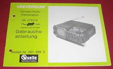 Las instrucciones de uso televisión radio combinación fuente universo SK 27811r 1970er