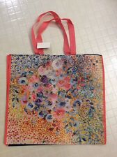 NEW Floral Shopping Tote Bag Colorful Flowers Reusable Marshalls Tote
