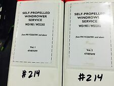 Case IH OEM WD1903 WD2303 windrower service repair manual 2 volumes NICE