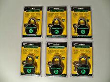 Lot 6 Solid Steel Weatherproof Padlocks Keyed Alike (Master Keys Matching Locks)