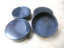 "Set of Four 1 15/16"" Round Plastic Hole Plugs AG-56 BLK"