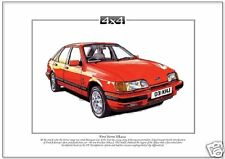 FORD SIERRA XR4x4 Fine Art Print - A4 size picture - Four wheel drive saloon car