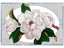 20x14 MAGNOLIA Floral Stained Art Glass Window Suncatcher