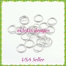 7mm 200pcs Silver Plated Jump Rings Jewelry Findings Open Split Earring Necklace
