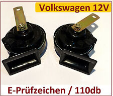 2x HUPE SIGNAL-HORN Zweiklang Hochton Tiefton VW Golf IV + Variant alle