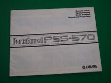 YAMAHA PSS-570 PORTASOUND ELECTRONIC KEYBOARD OWNERS GUIDE (MANUAL PSS570)