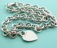 TIFFANY&Co Heart Tag Necklace Sterling Silver 925 Pendant w/BOX v1046