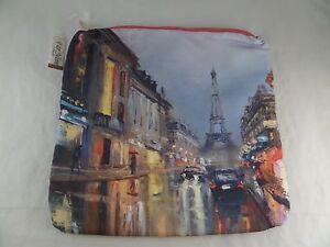 NWT Stand a France Clutch By Far Nine Eiffel Tower Paris Zipper Great Deal LOOK