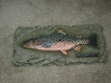 Rainbow Trout, carved rock fish, Home decor, Boat, Cabin feature, Rustic, gift