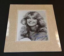 """ Farrah Fawcett""/ Custom Matted Autographed Photo."