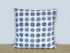 """Indian Floral Print 16"""" Square Cushion Cover Decorate Cotton Pillow Case Covers"""