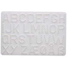 Hama -4455 Letters & Numbers Pegboard - Bead Pictures Art Craft Create