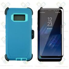 Cyan Tl For Samsung Galaxy S8+Plus Defender Case w/ Screen & Clip fits Otterbox