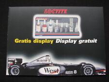 """Flyer Loctite """"Gratis Display"""" (West McLaren Mercedes MP4/13 #8 Mika Hakkinen)"""