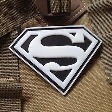 GLOW SUPER MAN SUPER HERO MORALE MILSPEC AIRSOFT TACTICAL PVC PATCH