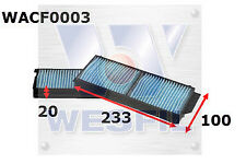 WESFIL CABIN FILTER FOR Mazda 3 2.0L TD 2007 08/07-09/09 WACF0003