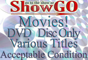 Movies & Shows #-F (DVD) *DISC ONLY* Acceptable Condition - Read Description