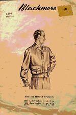 Vintage 40's BLACKMORE 5806 WW2 MEN'S LUMBER BOMBER JACKET Sewing Pattern
