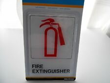 "Cole Fire Extinguisher Sign 5"" X 7"" Self Stick Hillman Visual Impact"
