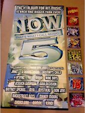 NOW That's What I Call Music PROMO VINYL POSTER, 8 CD's With 152 SONGS & Cling