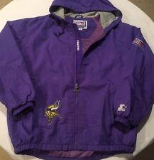 Vintage STARTER MINNESOTA VIKINGS Full Zip Jacket NFL Pro Line Men's Medium 90's