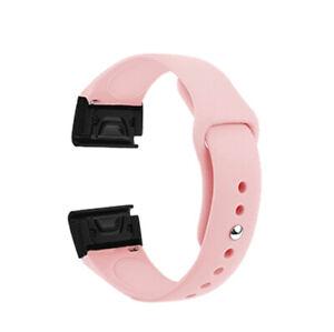 For Garmin Forerunner 945/935 Fenix 5/5 Plus S60 Quick Silicone Watch Band Strap