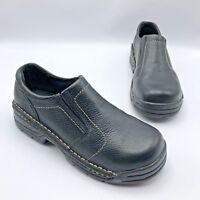 Hytest Opanka 7140 Black Steel Toe Slip On Work Shoe Size 6.5 Pre Owned