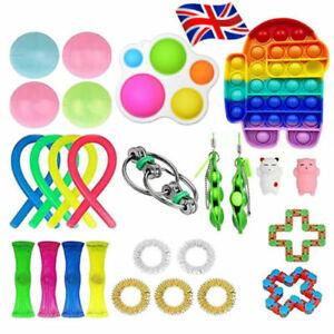 26Pack Fidget Toys Set Sensory Tools Bundle Stress Relief Hand Push Pop It Toy