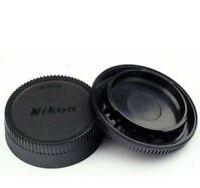 Body Front + Rear Lens Cap Cover For Nikon AF AF-S Lens DSLR SLR Camera