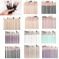 12PCS Pro Makeup Brushes Set Eyeshadow Eyebrow Eyeliner Foundation Lip Brush NEW
