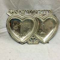 Vintage Souvenir Trinket Tray New York City Statue of Liberty Empire State Build
