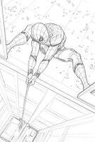 Spider-Man Homecoming Original Spider-Man Art SPLASH by Steve Kurth PUBLISHED