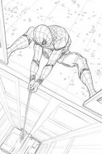 Spider-Man Homecoming Original Spider-Man Art SPLASH by Steve Kurth PUBLISHED