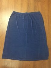 Citiknits QVC Purple Elastic Waist Modern Pencil Skirt Relaxed Size Large New