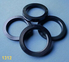 (1312) 4 Stück  Zentrierringe 72,0 / 54,0 mm schwarz für Alufelgen