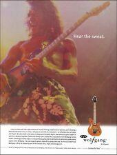 Eddie Van Halen Signature Peavey EVH Wolfgang Guitar ad 8 x 11 advertisement