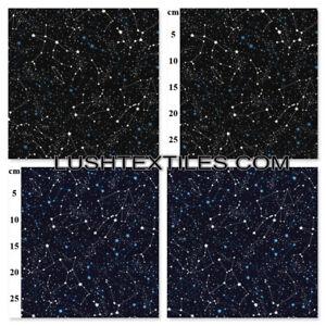 Galaxy Night Stars 100% Cotton Poplin Fabric Rose & Hubble Dress Bunting SCIFI