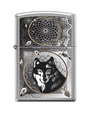 Zippo 0415 Wolf & Indian Dream Catcher Brushed Chrome Full Size Lighter