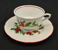 Museum of fine Arts Boston Cup Saucer Phillippe Deshoulieres Lourioux Christmas