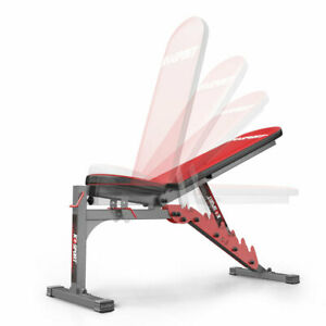 Weight Bench Adjustable Folding Gym Lifting Flat Incline Decline Sit Up Barbell