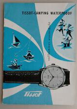 6 Seiten Prospekt Armbanduhr Tissot Typ Camping um 1955 (76637)