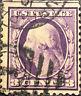 Scott #376 US 1910 3 Cent Washington Postage Stamp Perf 12