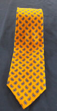 NWT Polo Ralph Lauren Gold Blue Paisley Silk Tie