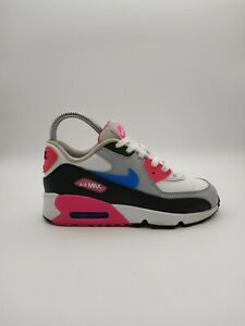 Nike Air Max LTR Girls Youth Size 2Y Running Shoes 833377-107 White/Pink/Gray