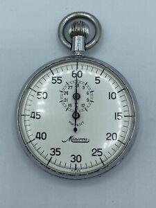 Vintage Minerva Watch Co Swiss Stopwatch Base Metal