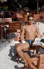 Shirtless Male Beefcake Muscular Dude Speedo & Sunglasses On Guy PHOTO 4X6 C425