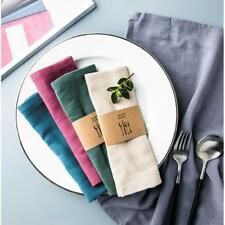 Cotton Table Cloth Square Napkins Wedding Hotel Polyester Linen Dinner Party LI