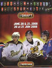 2008 NHL ENTRY DRAFT OFFICIAL PROGRAM - STAMKOS / DOUGHTY / SCHENN /