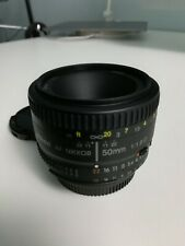 Nikon AF NIKKOR 50mm f/1.8D Lens - Black - good condition